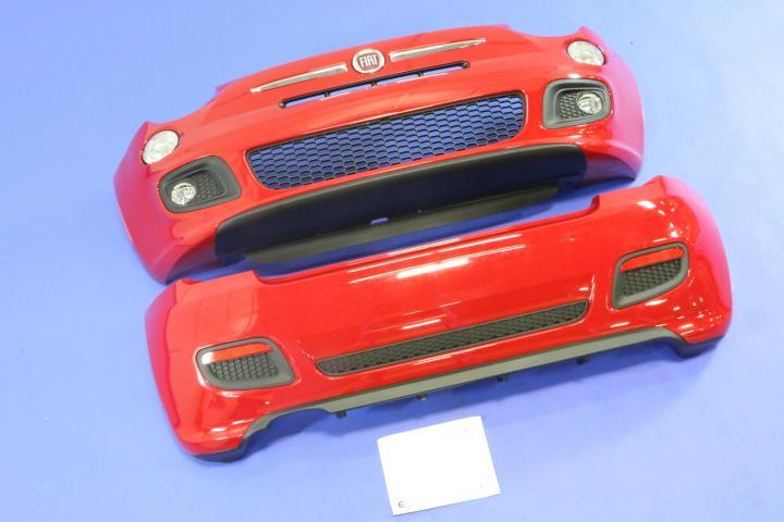 2013 Fiat 500 Front And Rear Fascia Kit  Sport Model Fascia For Installation  Including